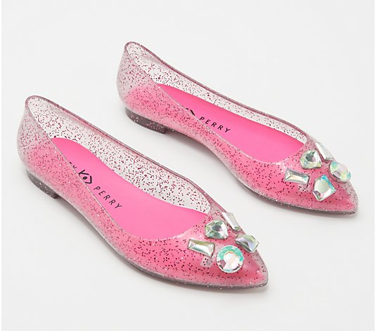 Katy Perry Jelly Jeweled Flats - The Princess