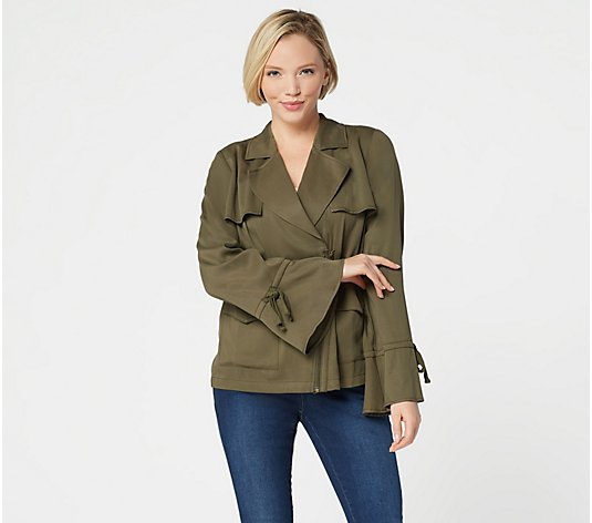 """As Is"" Laurie Felt Drape Front Jacket"