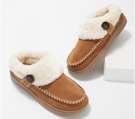 Earth Origins Suede Slipper with Faux Fur - Run About Raine