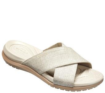 8b4d51f72bc18e Crocs Slide Sandals - Capri Shimmer Xband - A413166