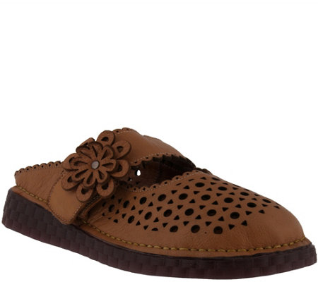 L'Artiste by Spring Step Leather Mules - Smoosh