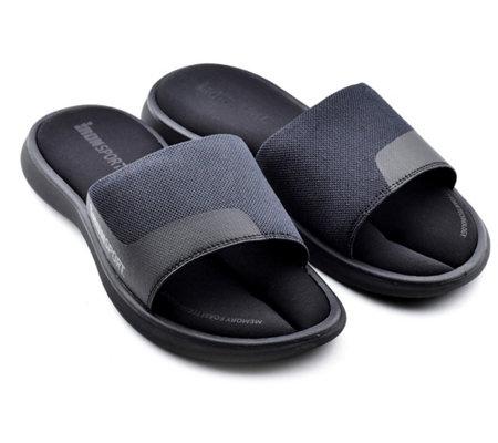 Black Multiple Sizes Spenco Thrust Men/'s Memory Foam Recovery Slide Sandals