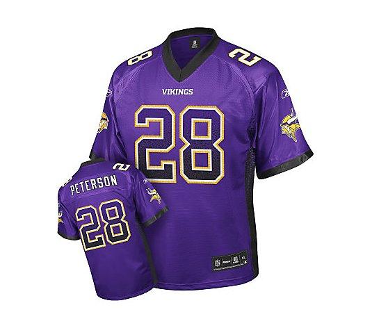 NFL Minnesota Vikings Adrian Peterson Premier Drift Jersey - QVC.com