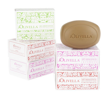 Olivella Set of6 Scented 100% Virgin Olive Oil Beauty Bars