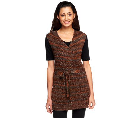 CE by Cristina Ehrlich Marled Sweater Vest