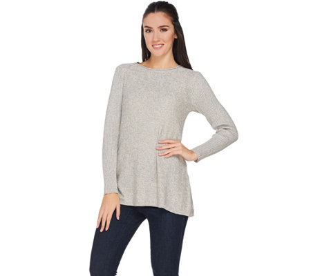 Lisa Rinna Collection Scoop Neck Long Sleeve Sweater