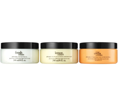 philosophy glazed body souffle trio