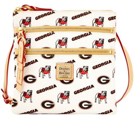 Dooney & Bourke NCAA University of Georgia Zip Crossbody