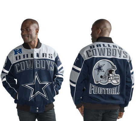 NFL Dallas Cotton Twill Snap Closure Jacket