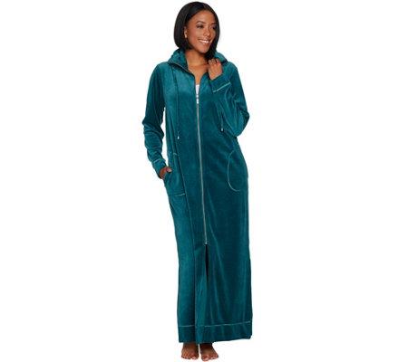 Bob Mackie Knit Velour Zip Front Robe - Page 1 — QVC.com 8eb997699