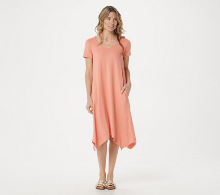 Cuddl Duds Flexwear Handkerchief Hem_Dress