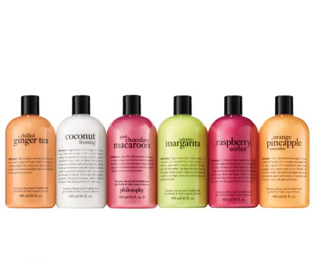philosophy taste of summer 6-piece shower gel kit