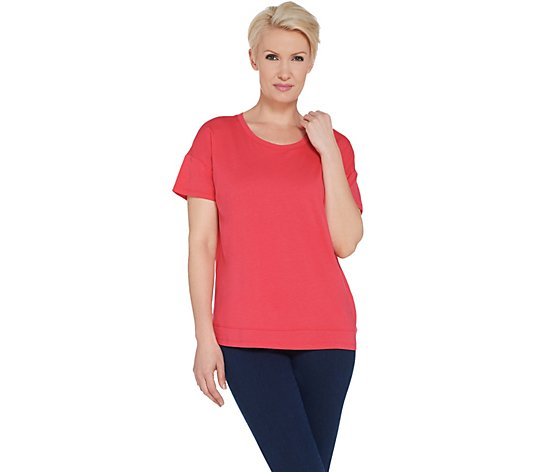 Joan Rivers Wardrobe Builders Tee Shirt with Hem Detail