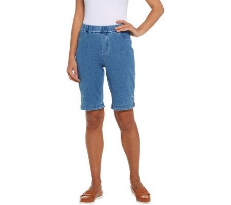 Isaac — Mizrahi Shorts Knit Bermuda Denim LiveRegular T1luKJ3Fc