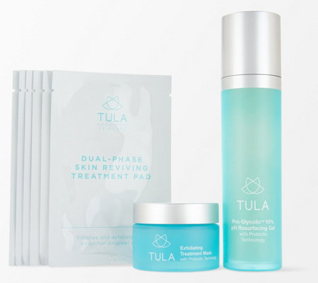 Tula By Dr Raj Daily Weekly Resurface And Exfoliate Set