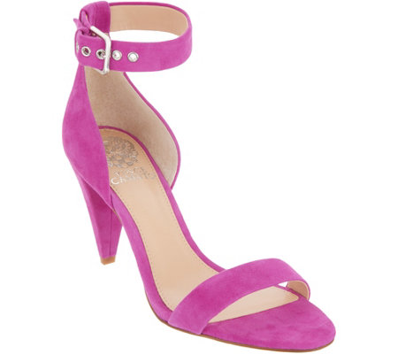Vince Camuto Ankle Strap Sandals with Cone Heel - Cashane