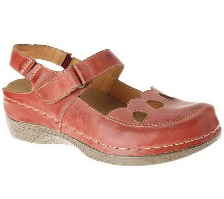 Spring Step Hope Leather Sling Back Mary Janes
