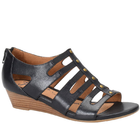 Sofft Leather Caged Sandals - Ilana