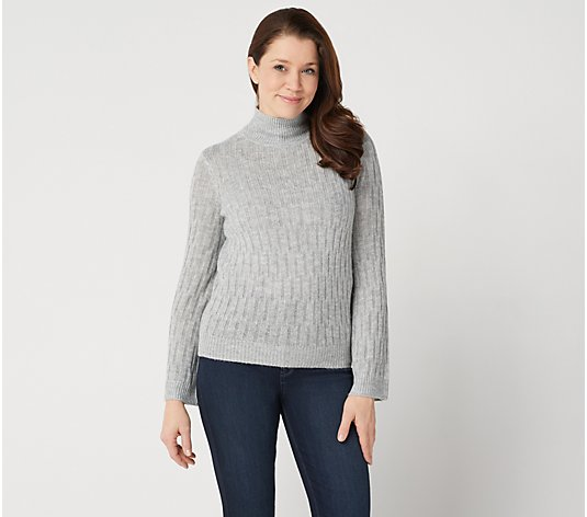 Lisa Rinna Collection Textured Wide Sleeve Sweater