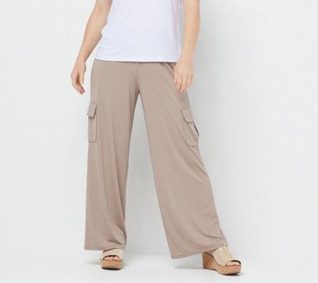 Diamond Print Fold Over Waist Cropped Wide Leg Palazzo Lounge Pants