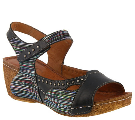 Spring Step Leather Slide Sandals - Jaslyn