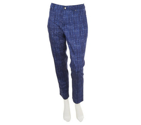 """As Is"" Kelly by Clinton Kelly Tapered Fit Printed Ankle Pants"
