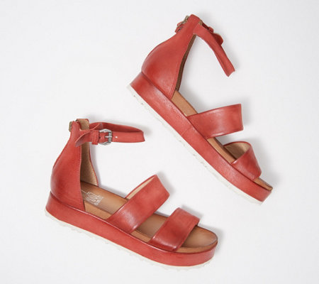 Miz Mooz Leather Ankle Strap Sandals - Sunday