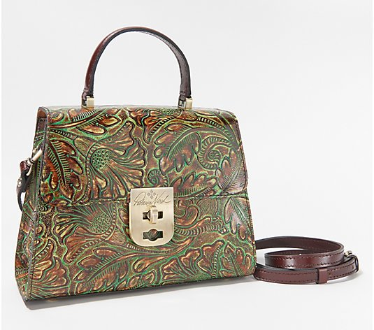 Patricia Nash Leather Chauny Top Handle Satchel