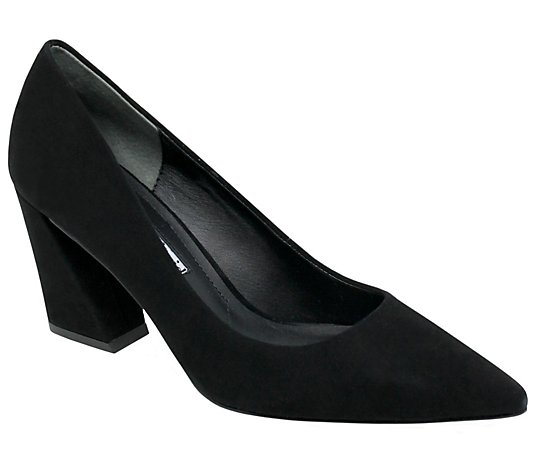 Charles David Leather Block Heel Pumps - Arsena  l