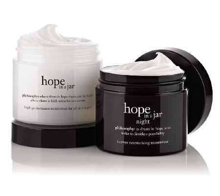 philosophy super-size hope in a jar am/pm moisturizer duo
