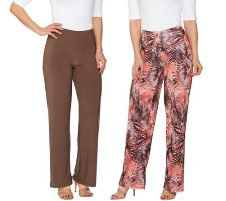 Attitudes by Renee Regular Printed and Solid Knit Pants Set