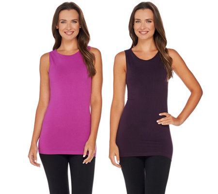 skinnytees High Scoop Seamless Layering Tank Set