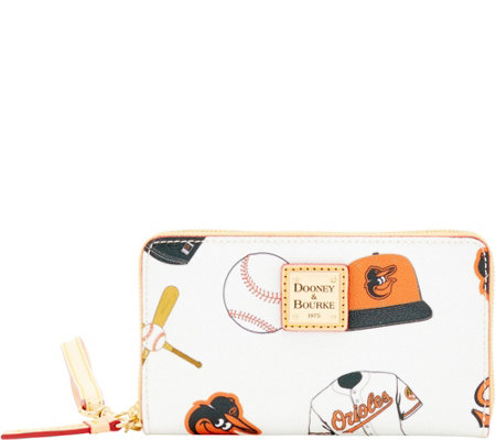 Dooney & Bourke MLB Orioles Zip Around Phone Wristlet