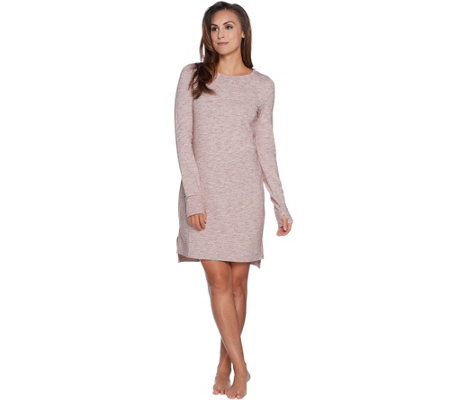 AnyBody Loungewear Cozy Knit French Terry Bateau Dress