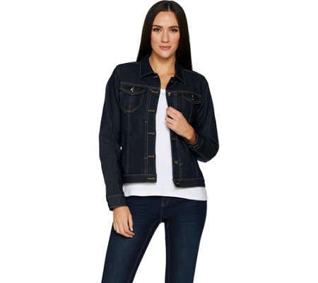 Susan Graver Stretch Denim Button Front Jean Jacket