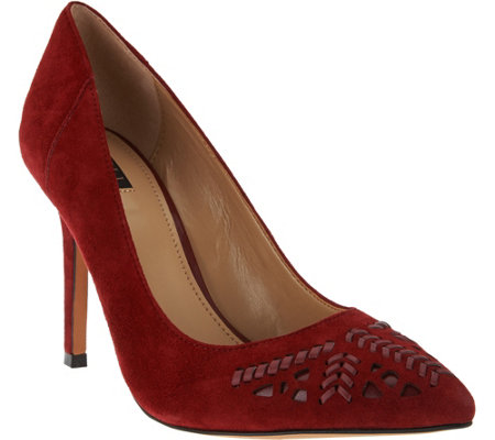"""As Is"" G.I.L.I. Pointed Toe Pumps - Jill 2 Whipstitch"