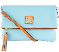 Dooney & Bourke Smooth Leather Foldover Crossbody Handbag - A305068