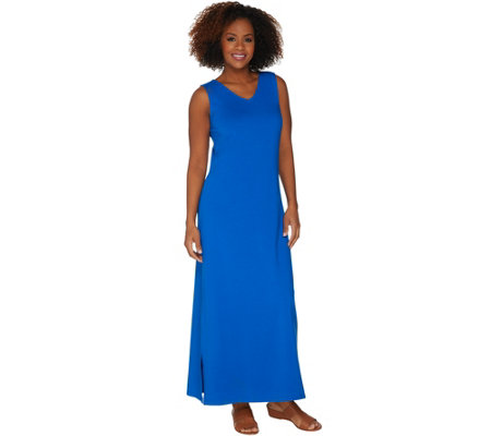 Belle by Kim Gravel TripleLuxe Knit V-Neck Maxi Dress