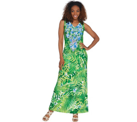 Linea By Louis Dell Olio Petite Island Floral Maxi Dress