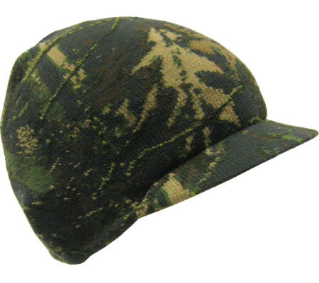 QuietWear Digital Knit Camo with Green Tech Visor Cap