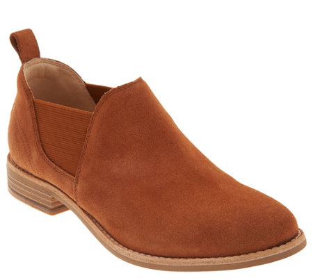 Clarks Leather Slip On Booties Edenvale Page