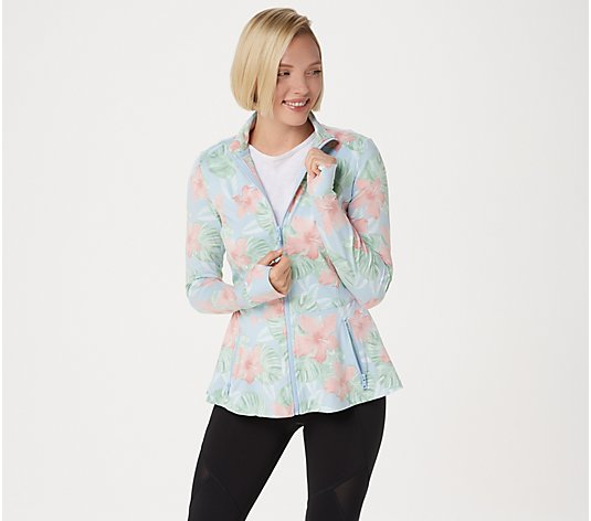 Tracy Anderson for G.I.L.I. Zip Front Peplum Jacket