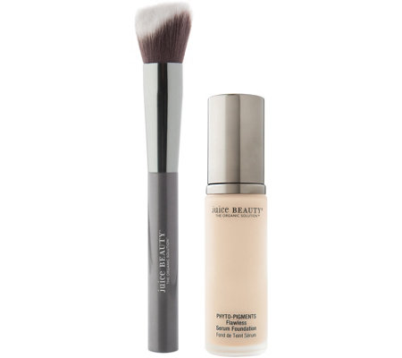 Juice Beauty Flawless Serum Foundation & Foundation Brush