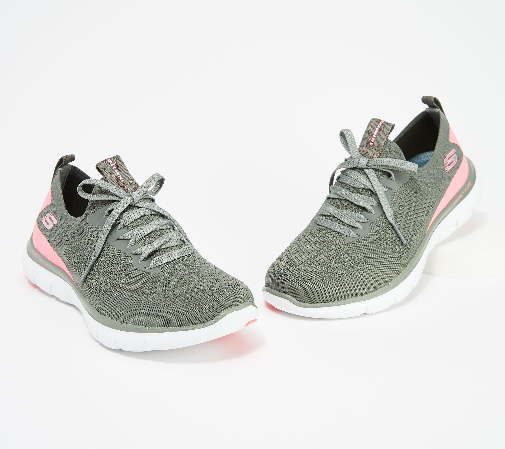Skechers Flex Appeal 2 0 Stretch Knit Slip On Sneakers Turn Qvc Com