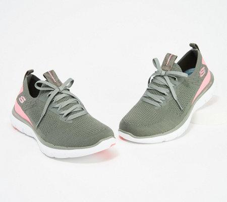 Angebot outlet Straßenpreis Skechers Flex Appeal 2.0 Stretch Knit Slip-on Sneakers- Turn — QVC.com
