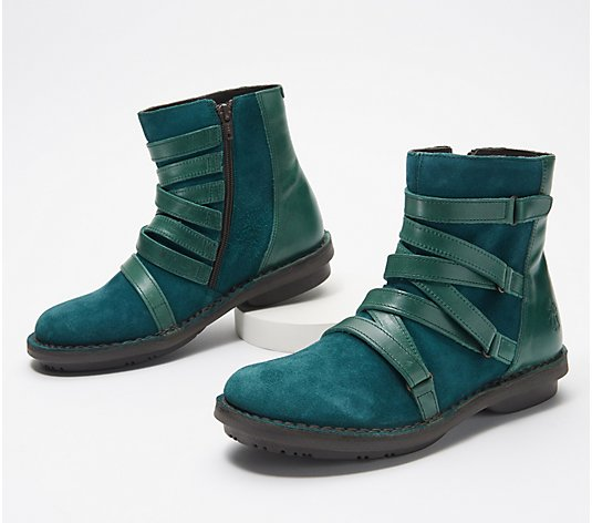 FLY London Leather Mid Boots - Felt