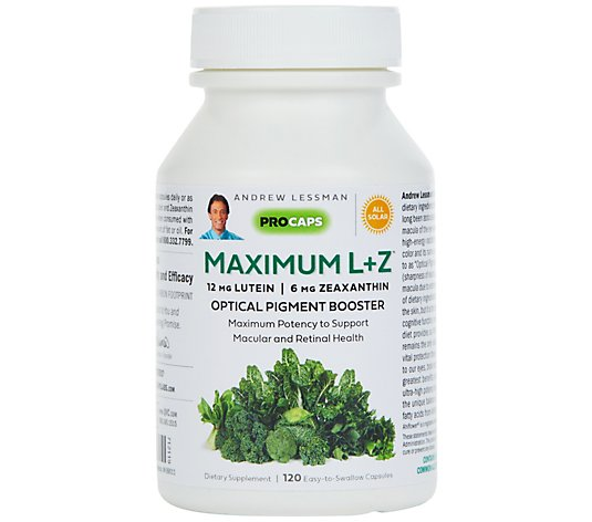 Maximum L + Z Optical Pigment Booster for Eye & Brain Health 120 Softgels
