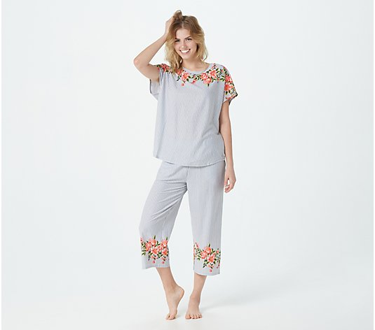 Cuddl Duds Cotton Touch Dolman Tunic & Gaucho Pant Set