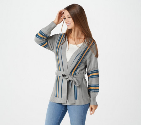 """As Is"" Laurie Felt Wrap Sweater with Long-Sleeves"