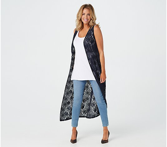G.I.L.I. Woven Lace Duster with Side Slits